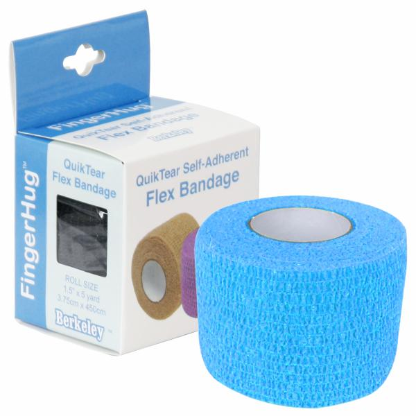 FingerHug QuikTear Self-Adherent Flex Bandage | Light Blue