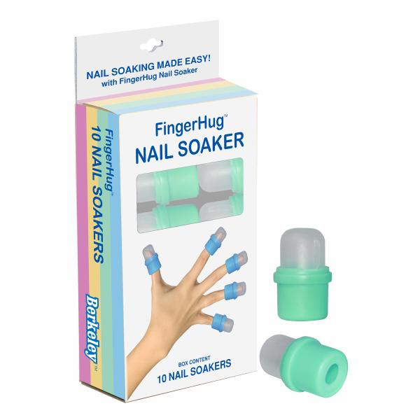 FingerHug 10-Pcs Nail Soaker | Green