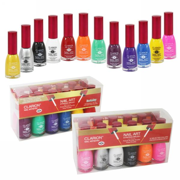 Clarion Nail Art | 1/2 oz bottle | 12-Bottle Basic Collection 2
