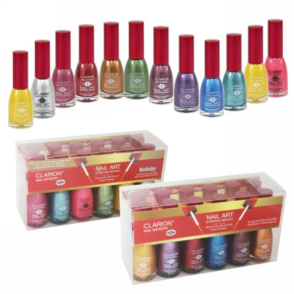 Clarion Nail Art | 1/2 oz bottle | 12-Bottle Pearl Collection 2