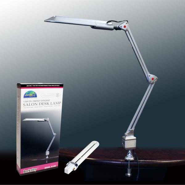 Energy Efficent Salon Desk Lamp with Bulb | 13W | Silver