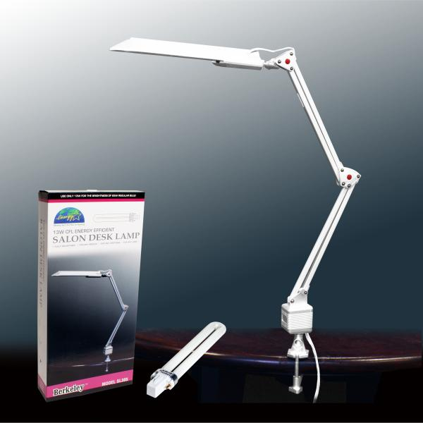 Energy Efficent Salon Desk Lamp with Bulb | 13W | White