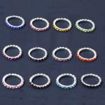 Elastic Rhinestone Toe Ring - 12 Colors